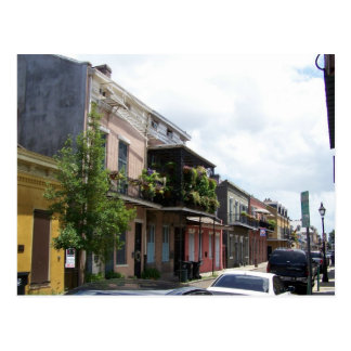 French Quarter Street View New Orleans Louisiana Postcard