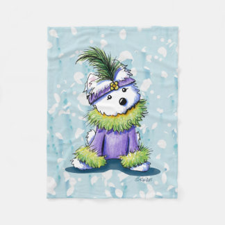 French Quarter Westie KiniArt Fleece Blanket