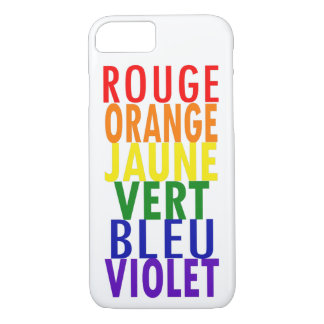 French Rainbow Colors iPhone 8/7 Case