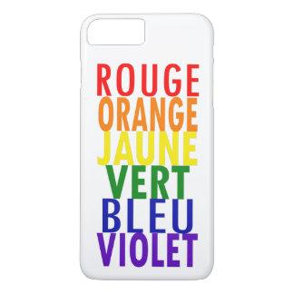 French Rainbow Colors iPhone 8 Plus/7 Plus Case