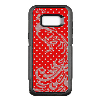 French-Red-Peacock-Polka-dots-APPLE-SAMSUNG OtterBox Commuter Samsung Galaxy S8+ Case