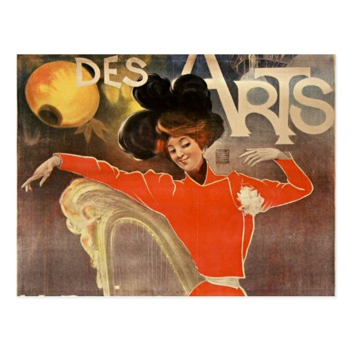 "french retro style post card ""cabaret of arts """