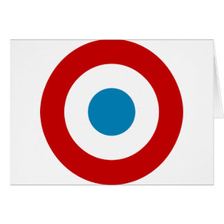 French Revolution Roundel France Cocarde Tricolore Card