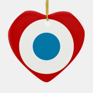 French Revolution Roundel France Cocarde Tricolore Ceramic Heart Decoration