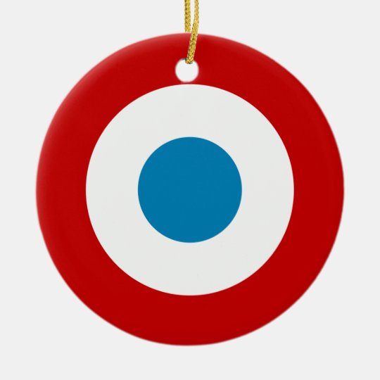 French Revolution Roundel France Cocarde Tricolore Ceramic Ornament