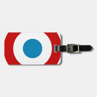 French Revolution Roundel France Cocarde Tricolore Luggage Tag