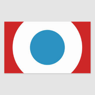 French Revolution Roundel France Cocarde Tricolore Rectangular Sticker