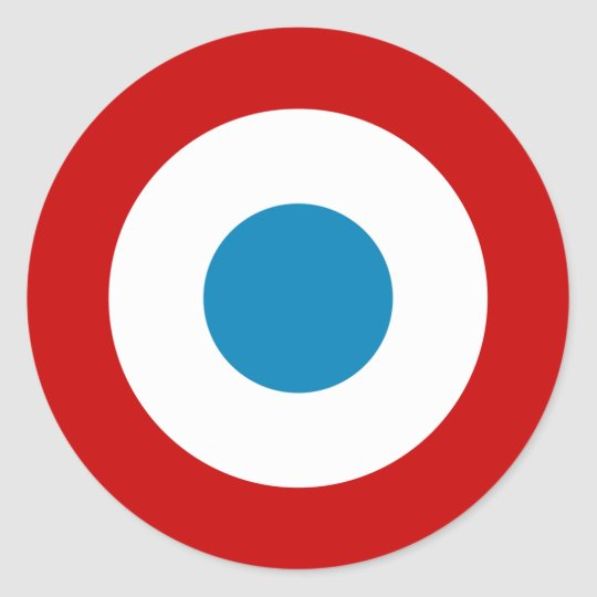 French Revolution Roundel France Cocarde Tricolore Round Sticker