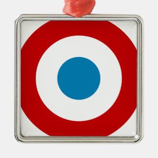 French Revolution Roundel France Cocarde Tricolore Silver-Colored Square Decoration