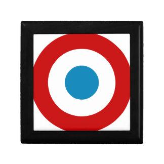 French Revolution Roundel France Cocarde Tricolore Small Square Gift Box