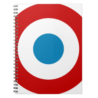 French Revolution Roundel France Cocarde Tricolore Spiral Notebook