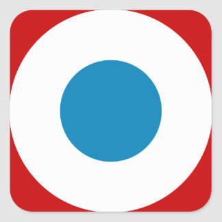 French Revolution Roundel France Cocarde Tricolore Square Sticker