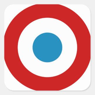 French Revolution Roundel France Cocarde Tricolore Square Sticker