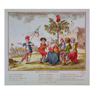 French revolutionaries dancing the carmagnole poster