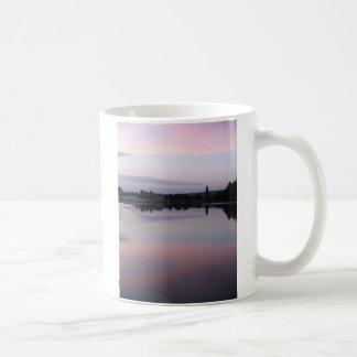 French River Sunset Basic White Mug