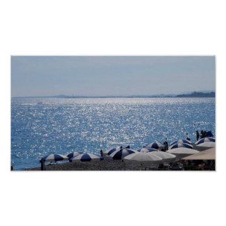 French Riviera Beach Poster