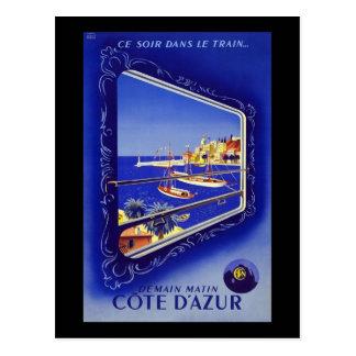 French Riviera Cote D'Azur Postcard