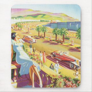 French Riviera Poster Mouse Pad