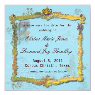 French Rococo Royal Save the Date Card Invitation