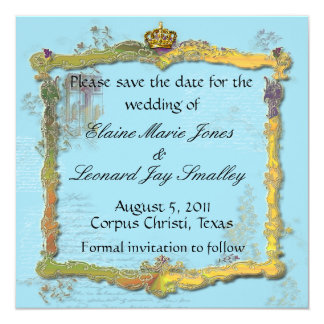 French Rococo Royal Save the Date Card 13 Cm X 13 Cm Square Invitation Card