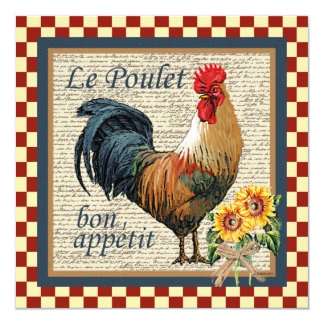 French Rooster Card