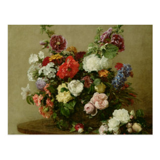 French Roses and Peonies, 1881 Postcard