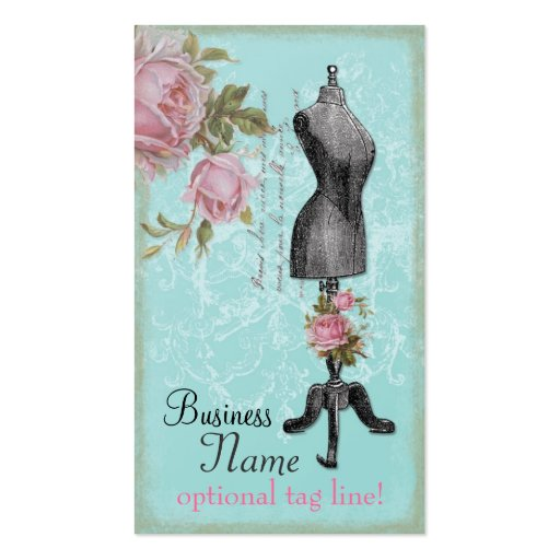 French Rosy Mannequin Double-Sided Standard Business Cards (Pack Of 100)