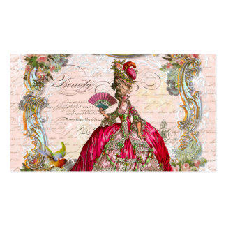 French Script Writing and Marie Antoinette Pack Of Standard Business Cards