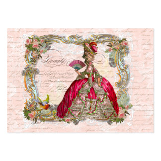 French Script Writing & Marie Antoinette Pack Of Chubby Business Cards