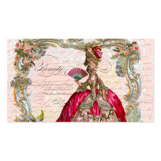 French Script Writing & Marie Antoinette Pack Of Standard Business Cards