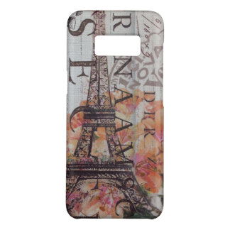 french scripts girly vintage paris eiffel tower Case-Mate samsung galaxy s8 case