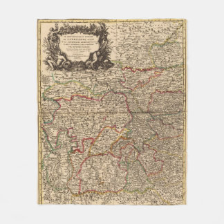 French settlements and forests fleece blanket