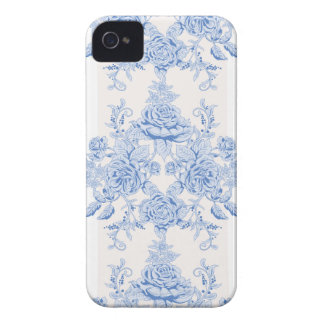 French,shabby chic, vintage,pale blue,white,chic, iPhone 4 Case-Mate case