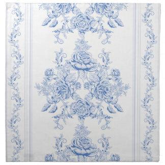 French,shabby chic, vintage,pale blue,white,chic, napkin