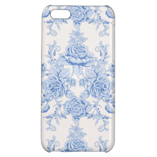 French,shabby chic, vintage,pale blue,white,countr iPhone 5C case