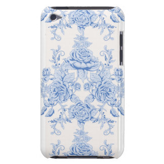 French,shabby chic, vintage,pale blue,white,countr iPod touch case