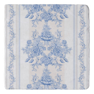 French,shabby chic, vintage,pale blue,white,countr trivet