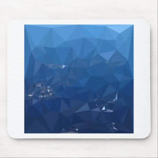 French Sky Blue Abstract Low Polygon Background Mouse Pad
