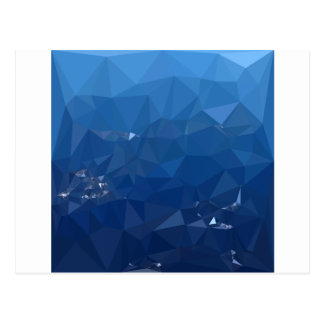 French Sky Blue Abstract Low Polygon Background Postcard