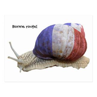 French snail, Bonne route! Postcard