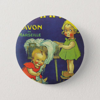 French soap label advertisement Children L'amande 6 Cm Round Badge