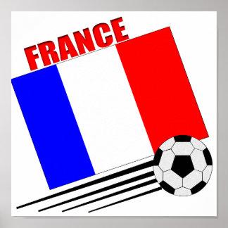 French soccer team poster