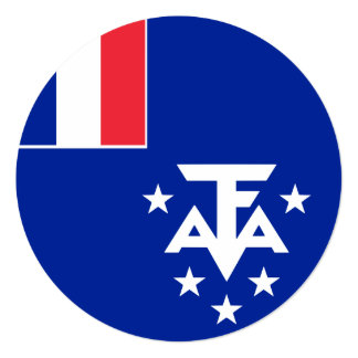 French Southern and Antarctic Lands Flag Card