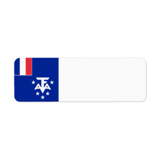 French Southern and Antarctic Lands Flag Return Address Label