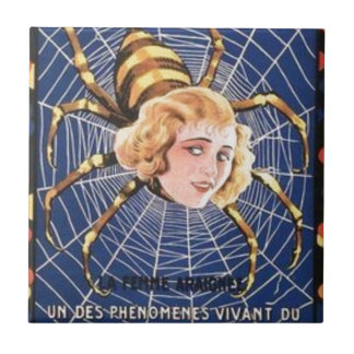 French Spider Girl Ceramic Tile