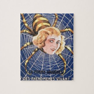French Spider Girl Jigsaw Puzzle