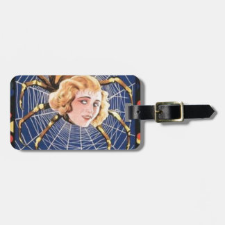 French Spider Girl Luggage Tag
