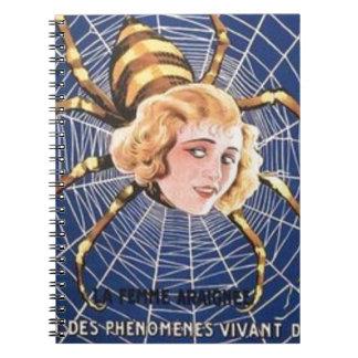 French Spider Girl Notebooks