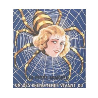 French Spider Girl Notepad