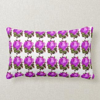 French_Spring_Floral_Violet-Rose_Lumbar_Accent Lumbar Cushion